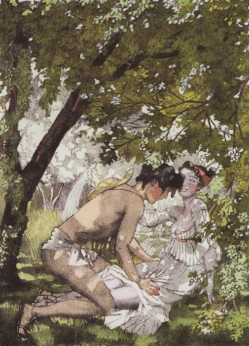 Иллюстрация к роману Лонга Дафнис и Хлоя2. 1930. Сомов Константин Андреевич (1869-1939)