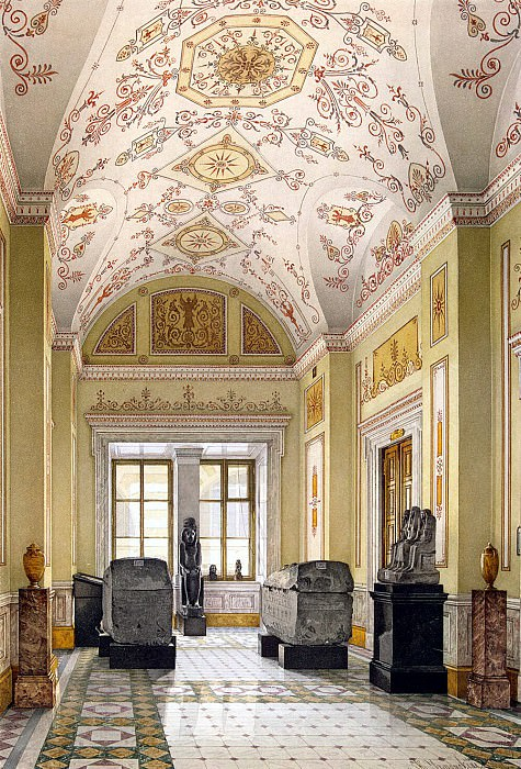 Ukhtomsky, Konstantin Andreevich. Types of rooms of the New Hermitage. Cabinet of Egyptian Sculpture. Hermitage ~ part 12