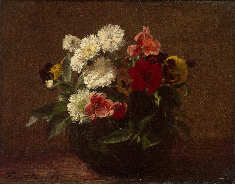 Fantin-Latour, Henri. Flowers in a clay vase. Hermitage ~ part 12