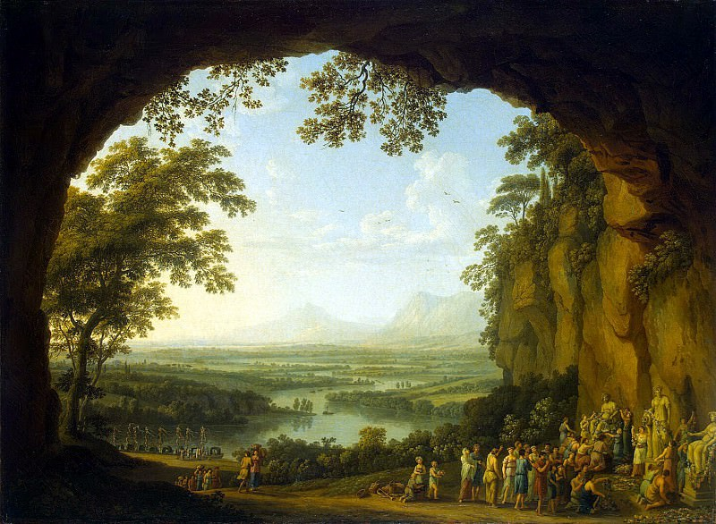 Hakkert, Jacob Philip. Landscape with the ancient festival. Hermitage ~ part 12