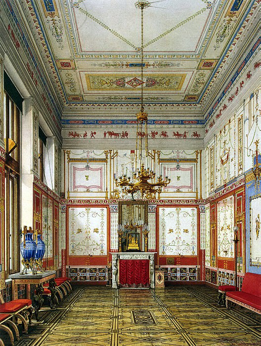 Ukhtomsky, Konstantin Andreevich. Types of rooms in the Winter Palace. Pompeian or Small Dining. Hermitage ~ part 12