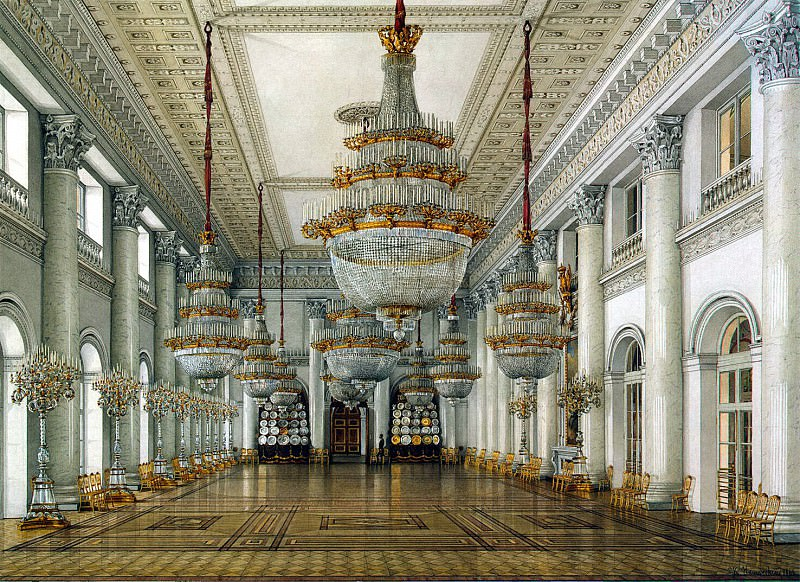 Ukhtomsky, Konstantin Andreevich. Types of rooms in the Winter Palace. Nicholas Hall. Hermitage ~ part 12