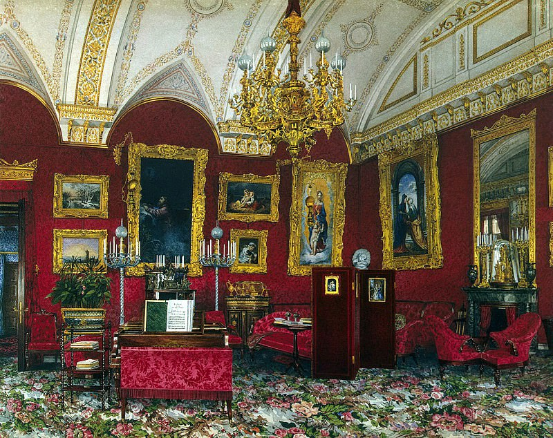 Ukhtomsky, Konstantin Andreevich. Types of rooms in the Winter Palace. Cabinet of Grand Duchess Maria Alexandrovna. Hermitage ~ part 12