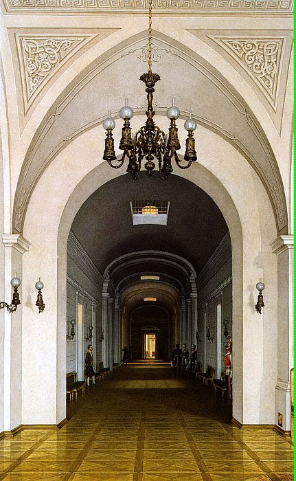 Ukhtomsky, Konstantin Andreevich. Types of rooms in the Winter Palace. Dark Corridor. Hermitage ~ part 12