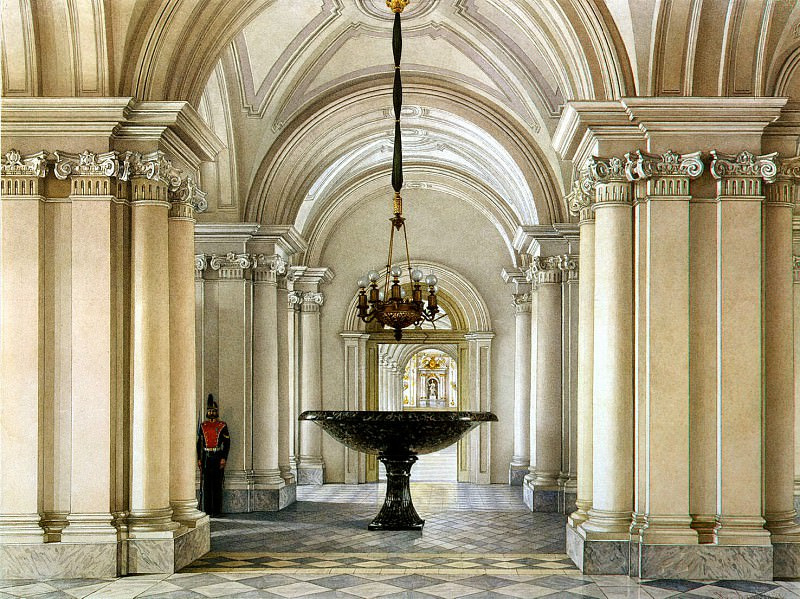 Ukhtomsky, Konstantin Andreevich. Types of rooms in the Winter Palace. Grand lobby. Hermitage ~ part 12