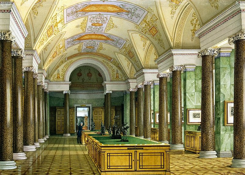 Ukhtomsky, Konstantin Andreevich. Types of rooms of the New Hermitage. Hall prints. Hermitage ~ part 12