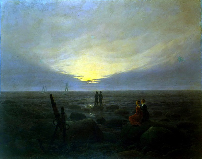 Friedrich, Caspar David. Moonrise over sea. Hermitage ~ part 12