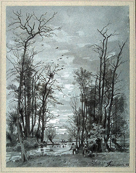 France, Louis. Autumn landscape. Riverside. Hermitage ~ part 12