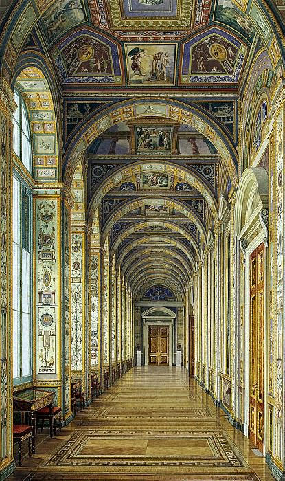 Ukhtomsky, Konstantin Andreevich. Types of rooms of the New Hermitage. Raphael Loggia. Hermitage ~ part 12