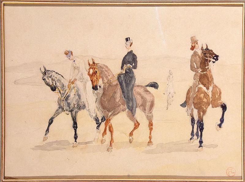 Toulouse-Lautrec, Henri de. Riders. Hermitage ~ part 12
