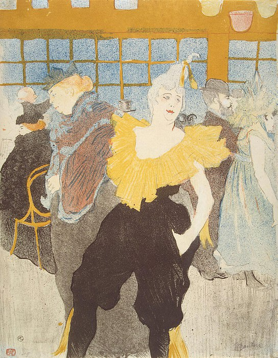 Toulouse-Lautrec, Henri de. Clowness the Moulin Rouge. Hermitage ~ part 12