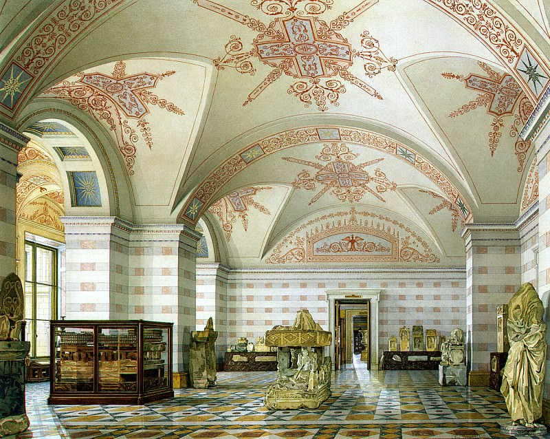Ukhtomsky, Konstantin Andreevich. Types of rooms of the New Hermitage. Hall of Antiquities of Cimmerian Bosporus. Hermitage ~ part 12