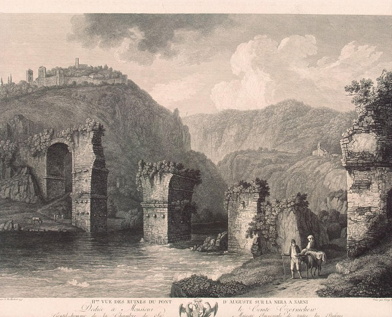 Hakkert, George Abraham. The second kind of ruins of the bridge in August in Narni. Hermitage ~ part 12