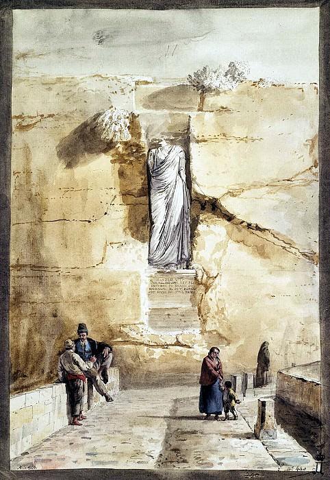 Uele, Jean-Pierre-Laurent. An ancient statue in Rabbath in Gozo. Hermitage ~ part 12