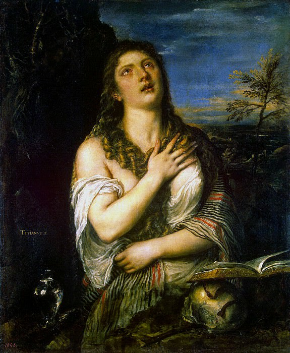 Titian. Penitent Mary Magdalene. Hermitage ~ part 12