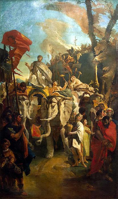 Tiepolo, Giovanni Battista. Triumph commander Mania Curia Dantata. Hermitage ~ part 12