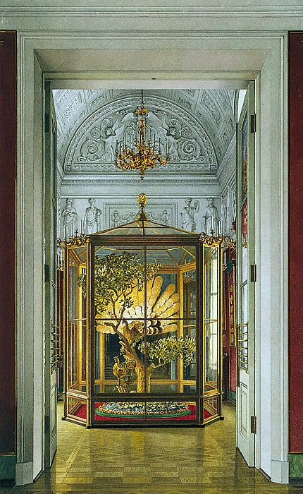 Ukhtomsky, Konstantin Andreevich. Types of rooms of the Small Hermitage. Peacock Clock in the Eastern Gallery. Hermitage ~ part 12