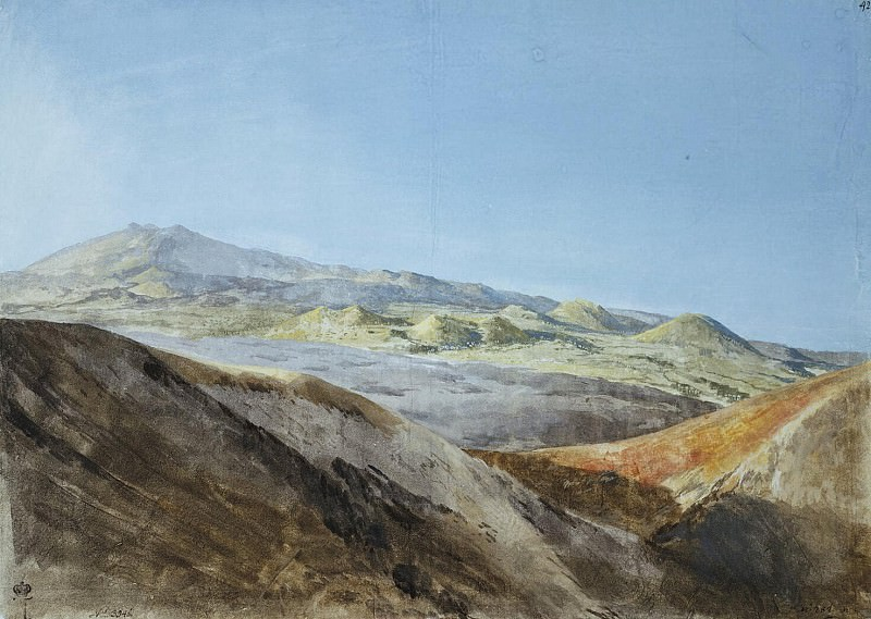 Uele, Jean-Pierre-Laurent. View of Etna near the top of Monte Rosso. Hermitage ~ part 12