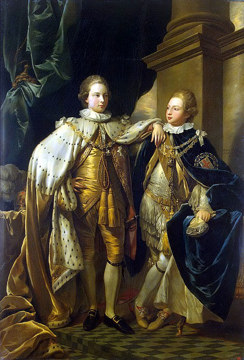 West, Benjamin. Portrait of George, Prince of Wales and Prince Frederick, later Duke of York. Hermitage ~ part 12