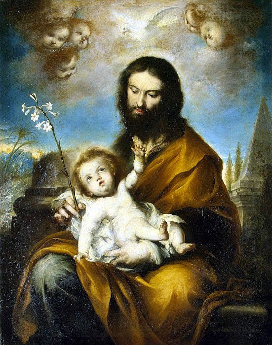 Torres, Clemente de. St. Joseph with the Christ child. Hermitage ~ part 12