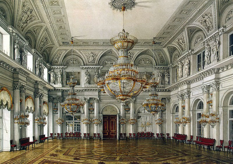 Ukhtomsky, Konstantin Andreevich. Types of rooms in the Winter Palace. Concert Hall. Hermitage ~ part 12