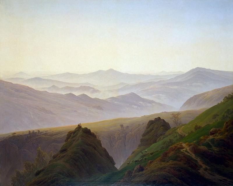 Friedrich, Caspar David. Morning in the mountains. Hermitage ~ part 12