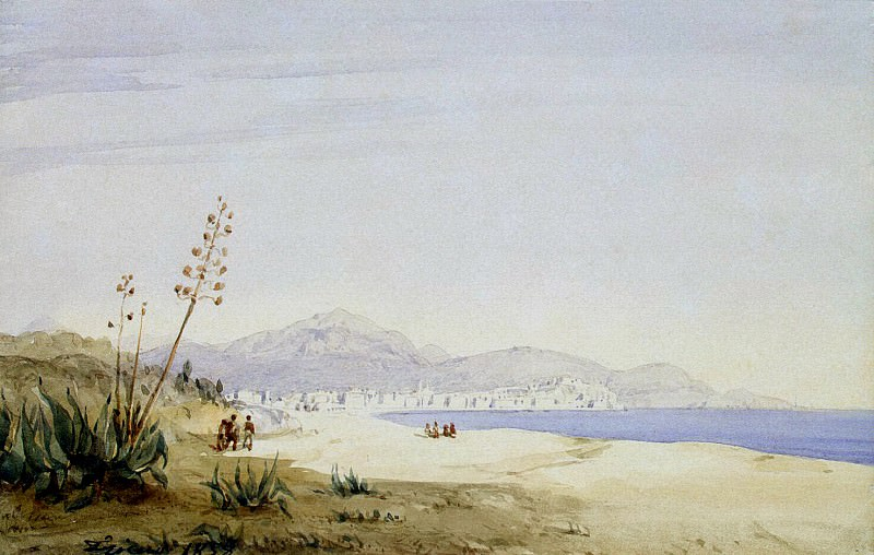 Frisero, Joseph. View Bay of Angels from St. Helena. Hermitage ~ part 12