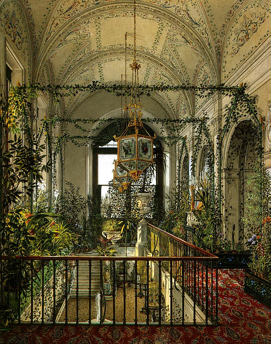 Ukhtomsky, Konstantin Andreevich. Types of rooms in the Winter Palace. Small Winter Garden of Empress Alexandra Feodorovna. Hermitage ~ part 12