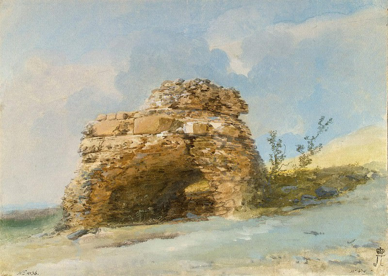 Uele, Jean-Pierre-Laurent. Tomb of the gate of the ancient city Tindari. Hermitage ~ part 12