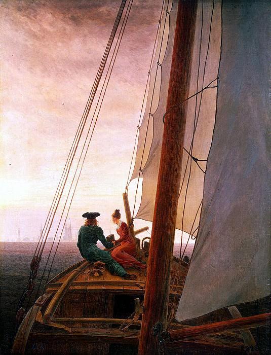 Friedrich, Caspar David. Sailing. Hermitage ~ part 12