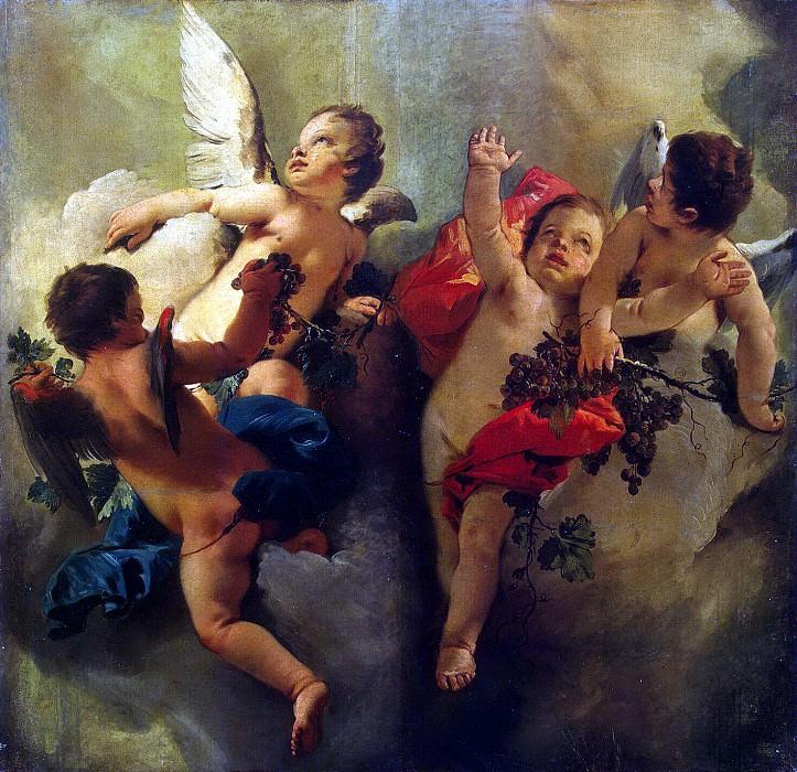 Тьеполо, Джованни Баттиста - Амуры с кистями винограда. Эрмитаж ~ часть 12
