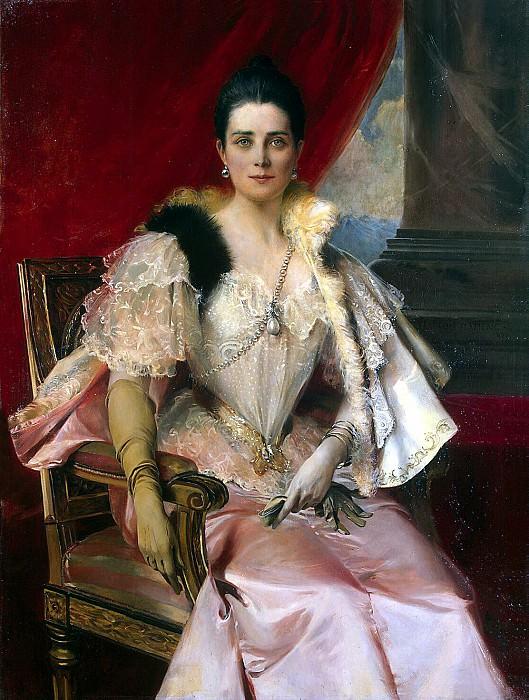 Flameng, Francois. Portrait of Princess. Hermitage ~ part 12