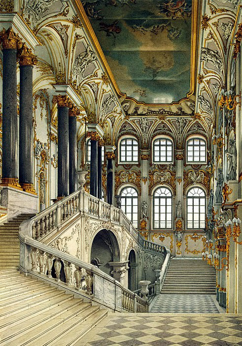 Ukhtomsky, Konstantin Andreevich. Types of rooms in the Winter Palace. Principal staircase. Hermitage ~ part 12