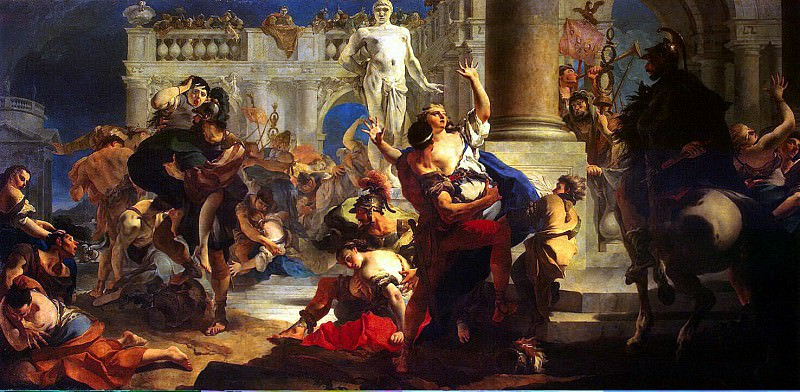 Tiepolo, Giovanni Battista. Rape of the Sabine Women. Hermitage ~ part 12