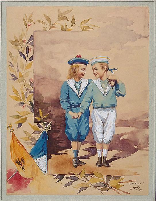 Flo, LA. Two children in sailor suits. Hermitage ~ part 12