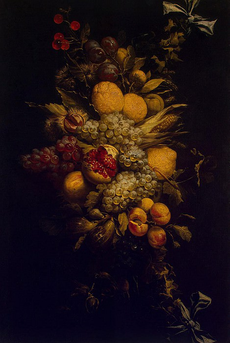 Utrecht, Adriaen van. Garland of fruit and vegetables. Hermitage ~ part 12