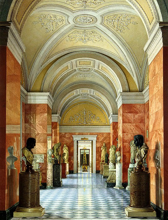 Ukhtomsky, Konstantin Andreevich. Types of rooms of the New Hermitage. Cabinet sculpture. Hermitage ~ part 12