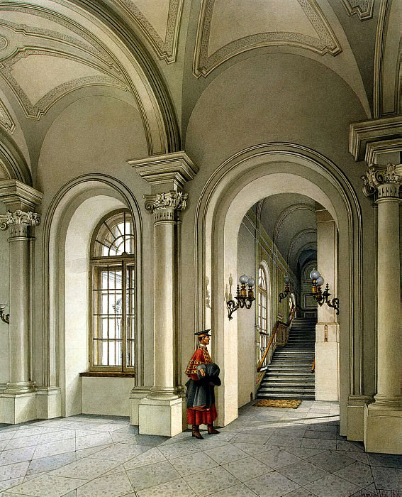 Ukhtomsky, Konstantin Andreevich. Types of rooms in the Winter Palace. Commandant Entrance. Hermitage ~ part 12