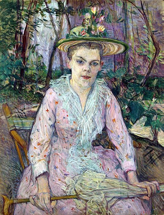 Toulouse-Lautrec, Henri de. Woman with umbrella. Hermitage ~ part 12