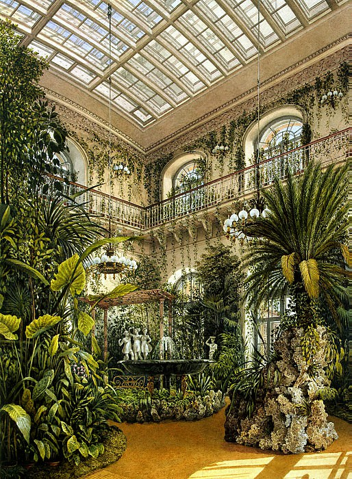 Ukhtomsky, Konstantin Andreevich. Types of rooms in the Winter Palace. Winter Garden.. Hermitage ~ part 12