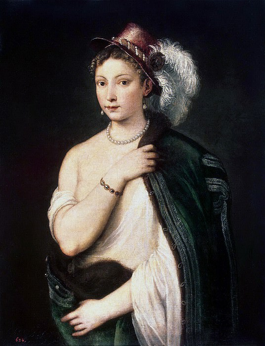 Titian. Portrait of a young woman. Hermitage ~ part 12