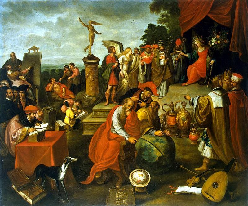 Franken, Frans II. Allegory of the case. Hermitage ~ part 12