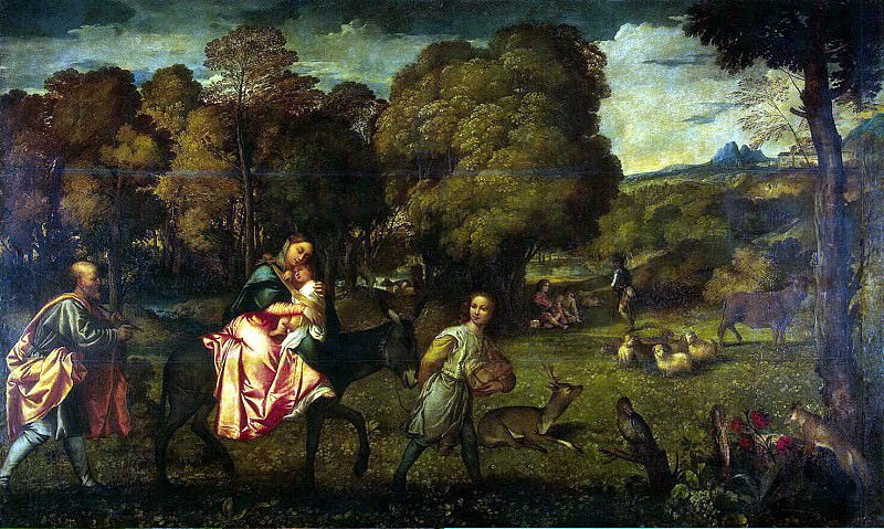 Titian. Flight into Egypt. Hermitage ~ part 12