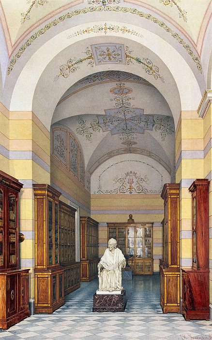 Ukhtomsky, Konstantin Andreevich. Types of rooms of the New Hermitage. Voltaires library. Hermitage ~ part 12
