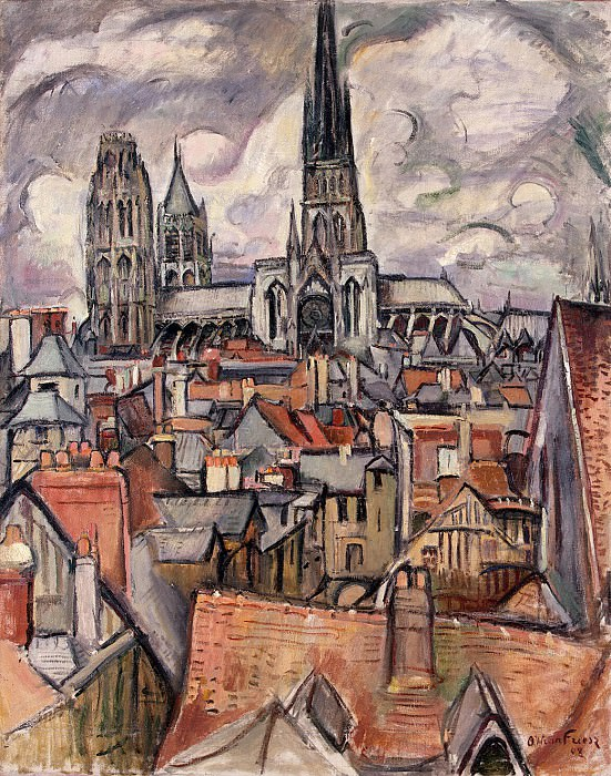 Friese, Aughton. Roofs and Cathedral in Rouen. Hermitage ~ part 12
