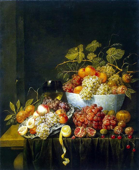 Utrecht, Adriaen van. Still Life with Grapes. Hermitage ~ part 12