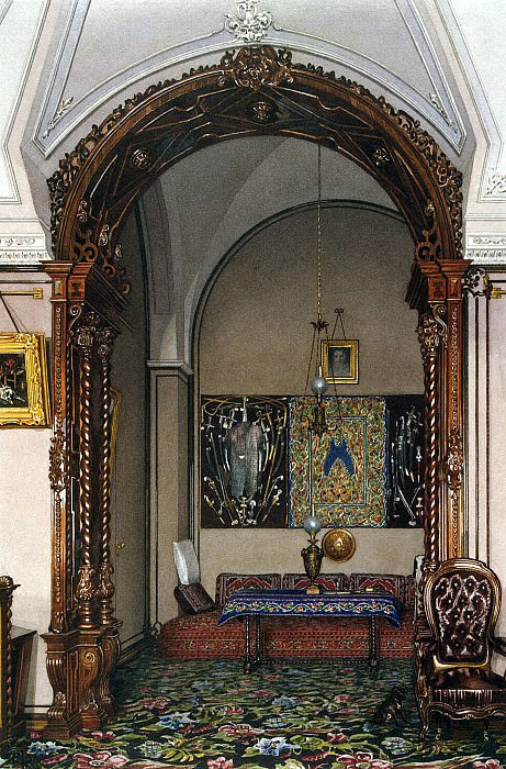 Ukhtomsky, Konstantin Andreevich. Types of rooms in the Winter Palace. Alcove Cabinet Grand Duke Nikolai Nikolaevich. Hermitage ~ part 12
