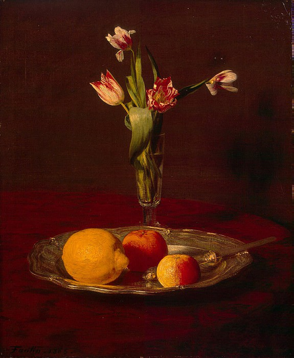 Fantin-Latour, Henri. Lemons, apples and tulips. Hermitage ~ part 12