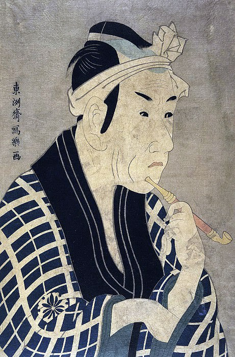 Tosyusay Syaraku. Actor Matsumoto Kosír IV as a fishmonger Gorobeya. Hermitage ~ part 12