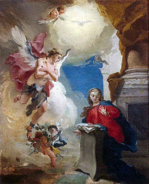 Tiepolo, Giovanni Battista. Annunciation. Hermitage ~ part 12